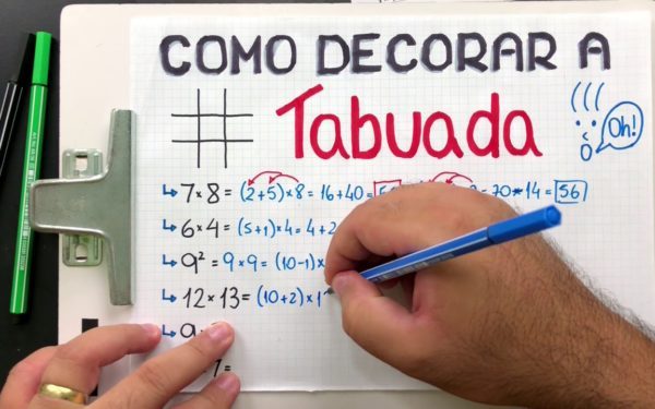 Como decorar a tabuada